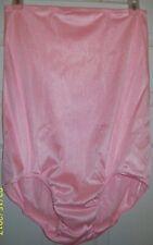 "2 LAYER Pink Tricot NYLON Higher Waist PANTIES + POCKET 20"" Sides WAIST 30 - 40"