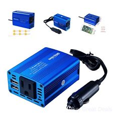 150W Car Power Inverter DC 12V To AC 110V With 3.1A 2 USB Ports For Laptop Phone