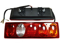 Set of 2x Rear Truck Tail Lights Lamps Van Pickup Lorry Tipper Chassis 5 lights