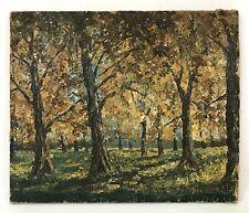Vintage Impasto Oil Painting Fall Autumn Trees Forest Landscape Unframed