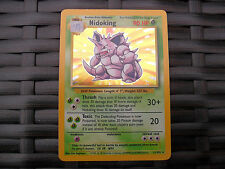 Rare Pokemon Nidoking 11/102 in very good condition. Not played. Holo, shiny.