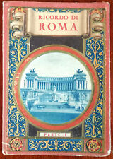 More details for rome ricordo di roma part ii. 32 view vintage letter card with embossed cover