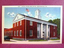 2 Postcards VA Martinsville US Post Office