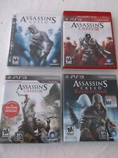 4 Playstation 3 Games:  Assassin's Creed I, II, III and Revelations - Complete