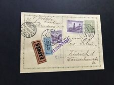 Czech 1938 WWII  uprated Postal Card to Switzerland =Censor +Express +Airmail !