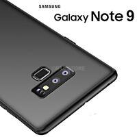 COVER per Samsung Galaxy Note 9 CUSTODIA ULTRA SOTTILE TPU Soft SLIM OPACA Nero