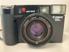 Vintage Canon AF35ML 35mm Film Camera With Case Working E46