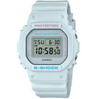 Casio Men's Watch G-Shock Quartz Pale Blue Strap Digital Grey Dial DW5600SC-8