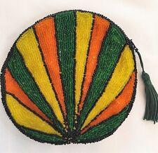 """Clutch Purse Handbag HAND BEADED """"Jamaican"""" by Jean Baptiste Jean Joseph NWT"""