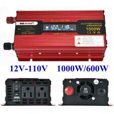 US 1000W Car Portable LCD Power Inverter DC 12V To AC 110V Converter