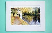 Photo Art Print VanagART New A5 Format Paper Cardboard Autumn Canal London Gift