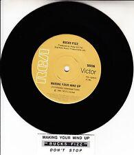 "BUCKS FIZZ  Making Your Mind Up 7"" 45 rpm vinyl record + juke box title strip"