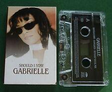 Gabrielle Should I Stay 5 O'Clock / Sunship Mix Cassette Tape Single - TESTED