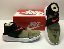 Nike Free RN Motion FK 2018 Running Olive Black Flyknit Shoes Mens 7 Womens 8.5