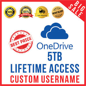 Onedrive 5TB lifetime account-Fast delivery.The New condition.