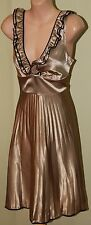Womens Gold and Black Frill Dress - Review - Size 10
