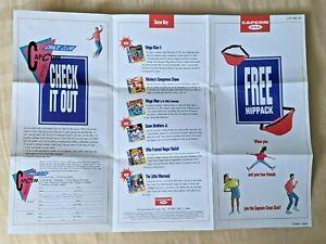 RARE Capcom USA Craze Club Fighter Stick NES + SNES Brochure Insert Insanely 90s