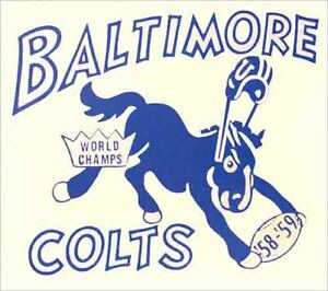 Baltimore Indianapolis Colts AFL NFL Football 1950's Vintage style Sticker Decal