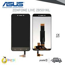 DISPLAY LCD TOUCH SCREEN ASUS ZENFONE LIVE ZB501KL SCHERMO ASSEMBLATO NERO VETRO