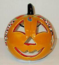 "Traditional Talavera Pottery Jack o Lantern 9 1/4"" H  x 8 1/4"" W"