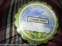 Set of 3 YANKEE CANDLE Summer Fresh Breeze TART MELT .8oz WAX POTPOURRI Retired