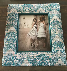 LENOX: American By Design ~ Turquoise Newspaper Frame 8x10 ~ NEW IN BOX
