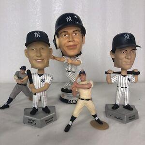New York Yankees, Mantle, Matsui, Damon, Gehrig Bobble Heads Lot