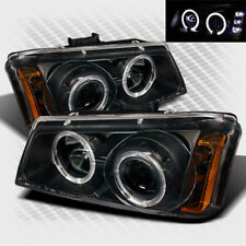 For 03-06 Chevy Silverado Twin Halo LED Pro Headlights Black Head Lights Pair