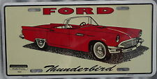"""License Plate """" Ford Thunderbird"""" Raised embossed and made in aluminum"""