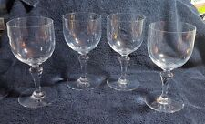 BACCARAT NORMANDIE CRYSTAL-Four Tall Water Goblets-6 1/2""