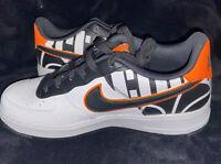 Nike Air Force 1 AF1 LV8 Low GS White Black Orange Shoes 820438-109 Youth Sz 6Y