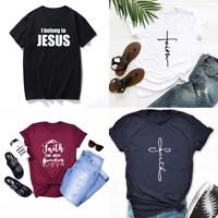 Faith Religious Christian T-shirt Religious Tee Unisex Casual Graphic Tee Tops