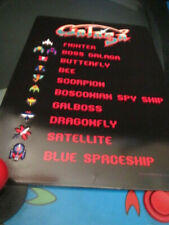 Galaga Arcade Metal Embossed Sign Midway Arcade Video Game Coin Amusement Ms J