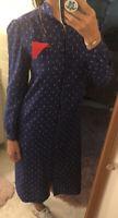 Vintage Button Up Dress By Breli Originals Long Sleeve