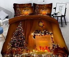 3D Leichte Dekoration M603 Weihnachten Steppdecke Bettbezug Christmas Bett Fay