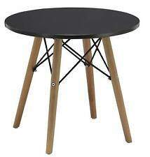 Duhome 20 In Round Coffee Side Table MDF Top Wooden Leg Stylish Eames Space