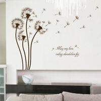 Abnehmbare Löwenzahn DIY Wand Sticker Heim Aufkleber Wohnzimmer Dekoration Super
