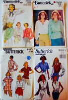 U PICK! Vintage 60's-80's BLOUSE TOP TUNIC Sew Pattern  UC ~ Rare! All Sizes