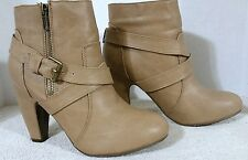 Girl's, Adriana Brand, Brown Ankle Boots, Dual strap, Zip up, Style: Tuner-47, S
