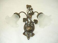 Applique Lampada da parete in ottone e vetro con edera