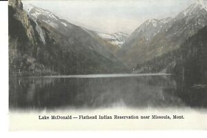 POSTCARD LAKE McDONALD FLATHEAD INDIAN RESERVATION NEAR MISSOULA MONTANA