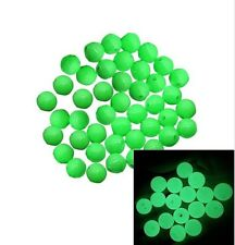 100 Green Round GLOW IN THE DARK Acrylic Spacer Beads for Craft / Fishing Tackle