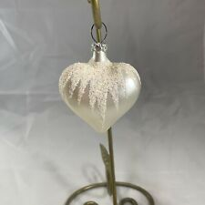 Pre 1990 West Germany Glass Heart Christmas Ornament