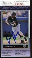 Tim Raines 1992 Leaf Jsa Coa Hand Signed Authentic White Sox Autographed