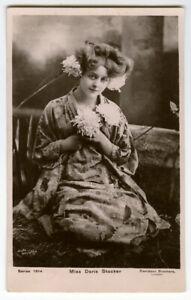 c 1906 Edwardian British Theater DORIS STOCKER Japanese Kimono photo postcard