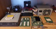 Lot de matériel informatique : DVD R/RW, alim, RAM, cartes...