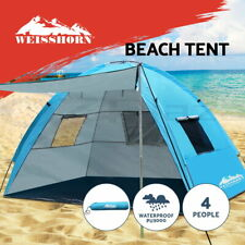 Weisshorn Camping Tent Beach Tents Hiking Sun Shade Shelter Fishing 2-4 Person