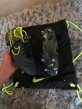 Nike Black And Green Tiempo Football Boots Acc Uk 7