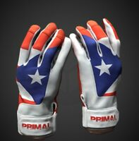 Puerto Rico Mens Baseball Batting Gloves Size Large By Primal Baseball