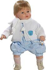Berbesa - Dulzon muñeco bebé lloron con traje y bufanda, 62 cm bolsa (80331)